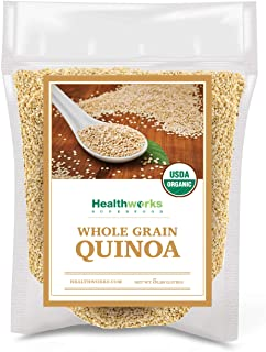 Healthworks Quinoa White Whole Grain Raw Organic (80 Ounces / 5 Pounds) | Protein, Fiber & Iron | Peruvian Origin | Rice &...