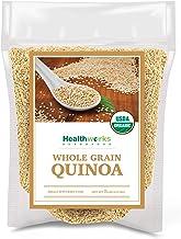 Healthworks Quinoa White Whole Grain Raw Organic (80 Ounces / 5 Pounds) | Protein, Fiber & Iron | Peruvian Origin | Rice &...