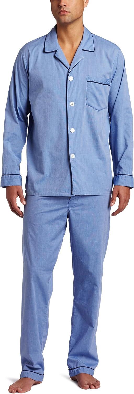 Majestic International Men's Cotton Basics ls Pajama