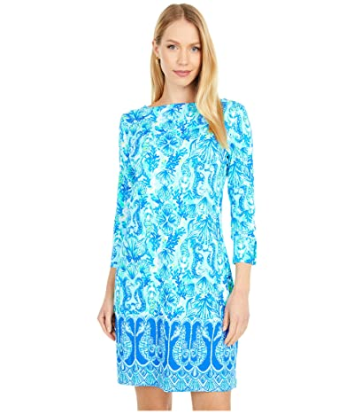 Lilly Pulitzer UPF 50+ Sophie Dress (Seaglass Aqua Seeing Double Engineered Knit) Women
