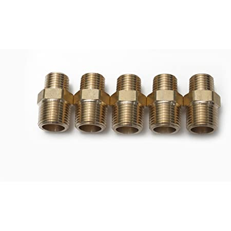 Pneumatic Male Thread Hex Nipple Equal Union Reducing Connector Fitting Brass QA