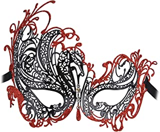 Best red and black lace masquerade masks Reviews