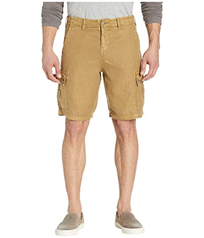 True Grit Textured Linen Cargo Shorts (Rye) Men