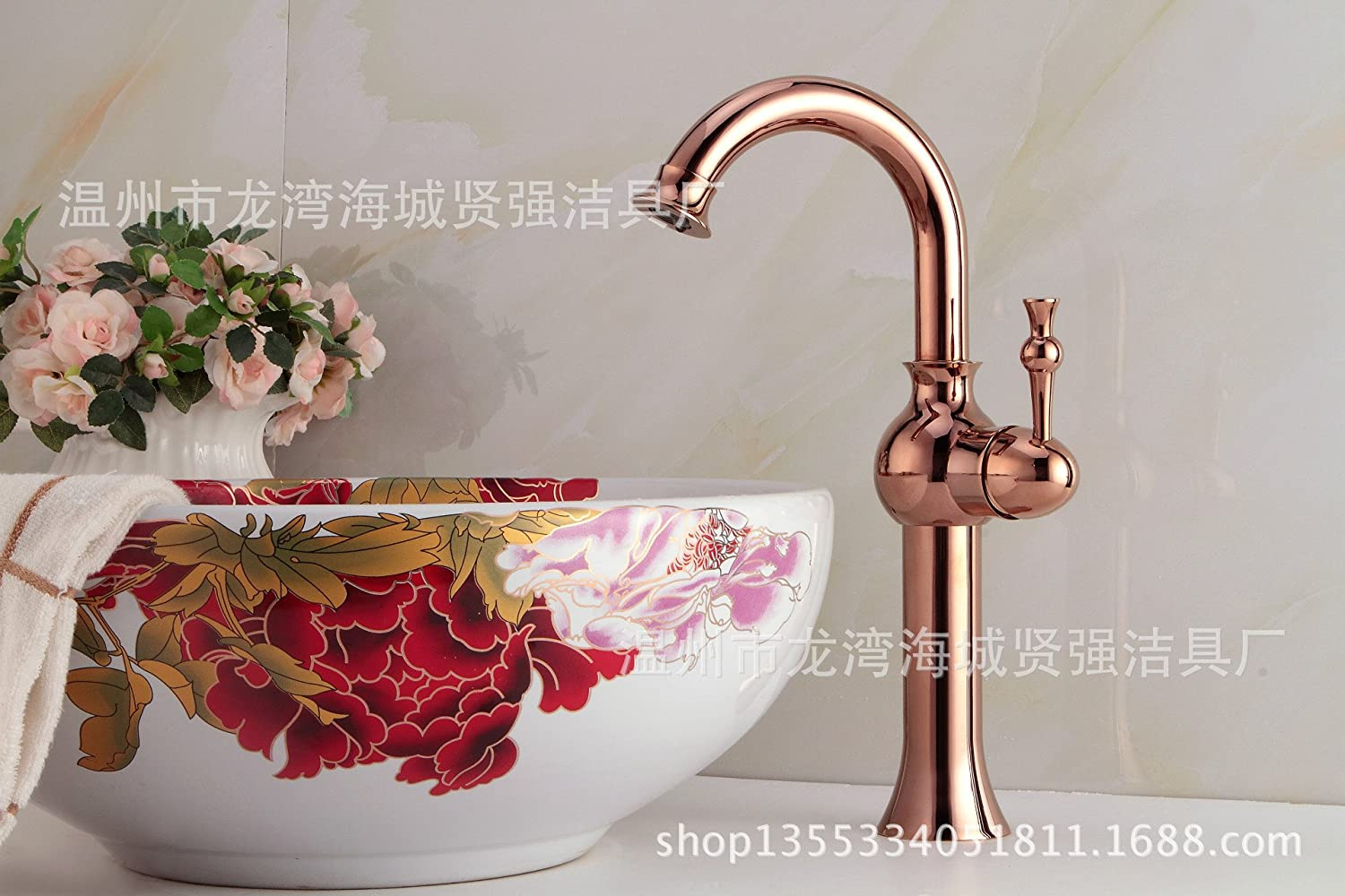 JIAHENGY Sink Mixer Faucet tap American creative modern minimalist fashion Retro Antique Solid Brass Two Holes Double Handles Wall Mounted with Swivel Spout,oil Rubbed Bronze Finish Toilet Kitchen bathroom