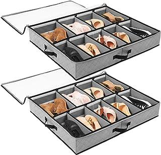 SOLEDI Boîte de Rangement pour Chaussures Peu encombrant pour Le Rangement sous Le lit de la penderie Organisateur de Chau...