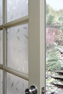 Artscape 01-0128 Etched Leaf Window Film, 24-by-36-Inch, Whites