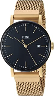 Vestal 'Sophisticate 36 Metal' Swiss Quartz Stainless Steel Dress Watch, Color Gold-Toned (Model: SP36M13.MGDM)