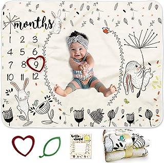 """BANANGO Baby Monthly Milestone Blanket 50""""x40""""+2 Frames..."""