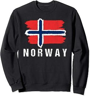 Vintage Painted Norway Flag | Norwegian Flag Fan Gift Sweatshirt