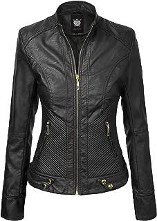 black leather moto jacket with gold hardware