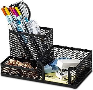 Desk Supplies Organiser, Mesh Desk Organizer Office Supplies with Pencil Holder and Storage Baskets for Desk Accessories, ...