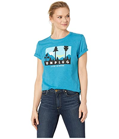 Life is Good Night Time Cool Teetm (Seaport Blue) Women