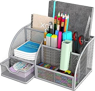 Mesh Desktop Organizer Office Supplies Caddy...