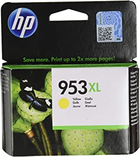 HP 953xl High Yield Ink Cartridge, Yellow - F6U18AE