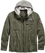 HARLEY-DAVIDSON Men's Hooded Cotton Slim Fit Jacket, Green