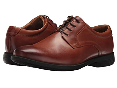 Nunn Bush Devine Plain Toe Oxford with KORE Walking Comfort Technology (Cognac) Men