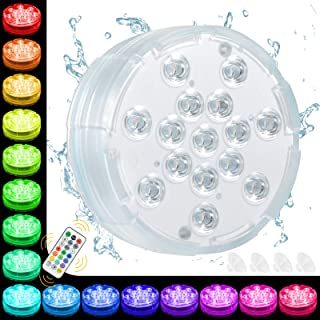 Oralys Bath Hot Tub Lights - Waterproof Pond Lights,Underwater Pool Lights with 15 LED Beads,16 Colors,Submersible LED Lig...
