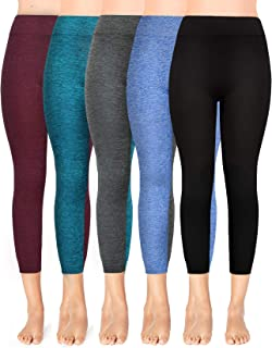 Moon Wood Extra Soft Capri Leggings with High Waist, Stretch Cropped Workout Leggings