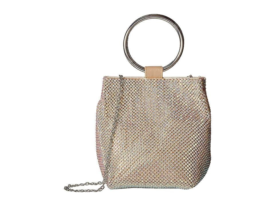Jessica McClintock Gwen Ring Wristlet (Gold Iridescent) Handbags