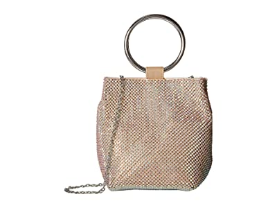 Jessica McClintock Gwen Ring Wristlet (Gold Iridescent) Handbags
