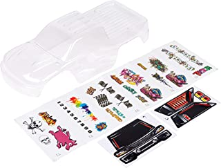 Custom Body Unpainted with Stickers Compatible for 1/10 Scale RC Car or Truck (Truck not Included) ST-C-01