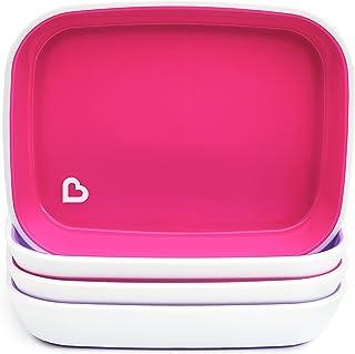 Munchkin Splash Toddler Plates 4 Pack pink 27166