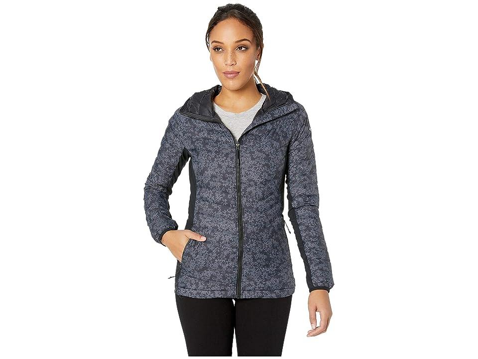 Columbia Powder Passtm Hooded Jacket (Black Edelweiss Print) Women