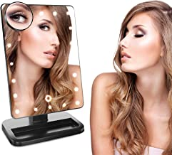 Zeta Boss Adjustable Makeup Mirror | Touch Screen and 180 Degree Adjustable - Portable - Compact Travel Vanity Mirror | Le...