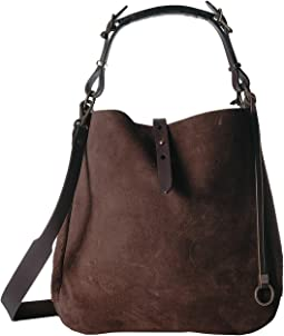 Rugged Suede Hobo