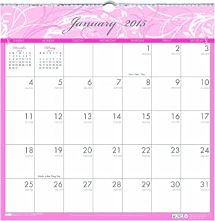 House of Doolittle Breast Cancer Awareness Wall Calendar 12 Months January 2015 to December 2015, 12 x 12 Inches, Pink and Gray, Recycled (HOD3671-15)