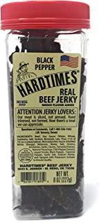 Hard Times 8oz Jar Peppered Real Beef Jerky Sliced Hand Trimmed Dry Tough Jerky For HardTimes …
