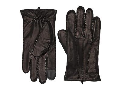 Frye Goatskin Extended Three Point Gloves (Black) Over-Mits Gloves
