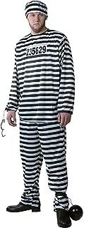 Men's Prisoner Costume Prison Suit Jail Costume