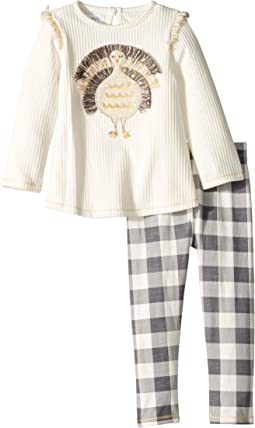 Thanksgiving Turkey Long Sleeve Tunic & Legging Two-Piece Set (Infant)