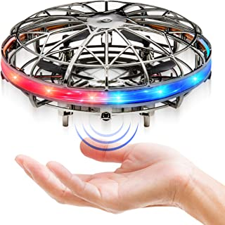 Force1 Scoot LED Hand Drone for Kids - Kids Drone, Flying Ball Drone, Light Up Toys for Boys and Girls (Dark Metal Gray)