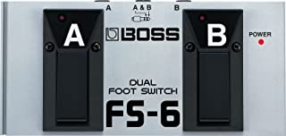 BOSS, 1/4-Inch Straight Latch or Unlatch Dual Footswitch (FS-6)