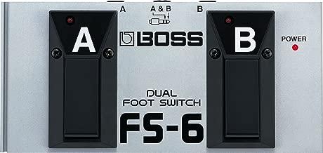 BOSS, 1/4-Inch Straight Latch or Unlatch Dual Footswitch (FS-6)