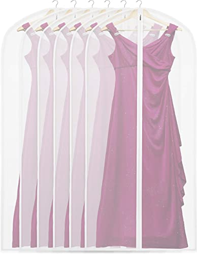 new arrival 6 Pack - SimpleHouseware lowest 60-Inch Translucent Garment Bags with Zipper for Suits, online sale Dresses, Costumes, Uniforms online