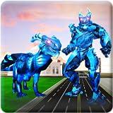 Robot Transformation Dragon Futuristic Crime City