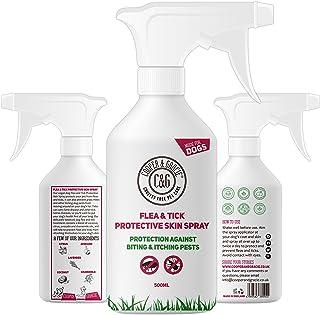 C&G Spray de protección contra pulgas y garrapatas para Perros, no testado en Animales