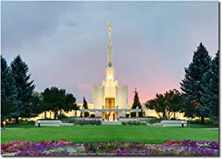 Latter-day Strengths Denver Colorado LDS Temple at Sunset - 7