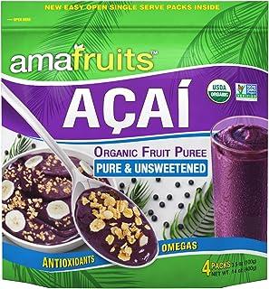 Amafruits Acai Berry Frozen Puree Pure and Unsweetened / USDA Organic / Non-GMO Certified / Antioxidant Rich Superfruit / ...