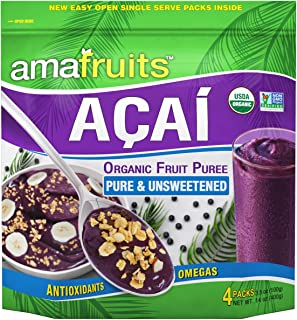 Amafruits Acai Berry Puree - Pure & Unsweetened (24)