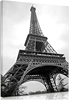 Bilderdepot24 Bastidor Imagen - Cuadros en Lienzo Torre Eiffel (París - Francia) 50x60cm - Made in Germany!