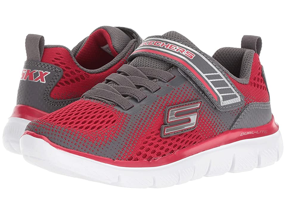 SKECHERS KIDS Flex Advantage 2.0 97499L (Little Kid/Big Kid) (Red/Charcoal) Boy