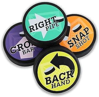 Right Pipe, Cross Bar, Back Hand, Snap Shot Hockey Training Puck Set - PucksWithPurpose
