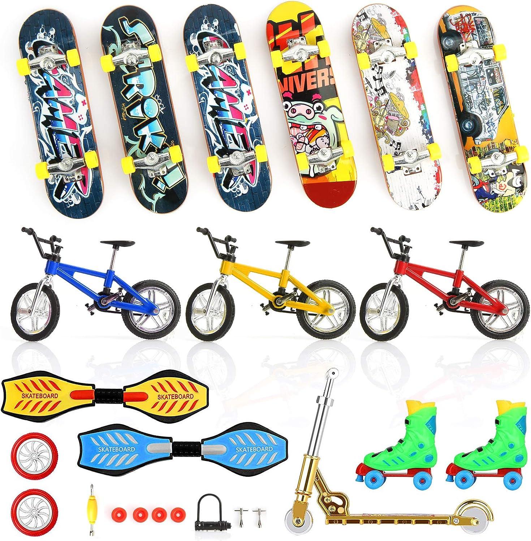 NEREIDS NET 24Pcs/Set Mini Fingerboard Finger Skateboards Toy, B