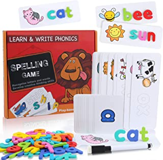 VWMYQ Educational Toys Spelling Games Easter Basket Stuffers See and Spell Learning Toys Matching Letter Game Toys for Boy...