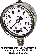 Best stainless pressure gauge Reviews