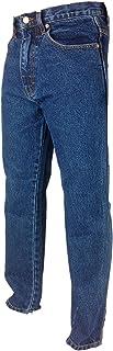 Aztec Excellent Quality Regular Fit Plain Comfy Jeans Tough Hard Wearing Pants Black Stonewash Lightwash Bleachwash Blue D...